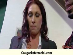 Interracial cougar hard sex 29