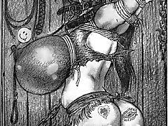 corda gigante amarrado bdsm mama
