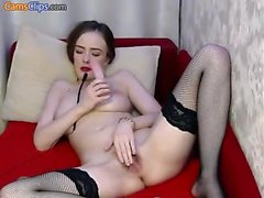 Stockings and masturbation with Chelsea French
