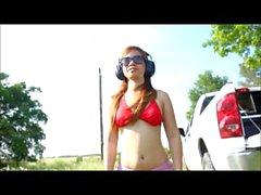 Shooting in bikini's andrea sky, asia zo