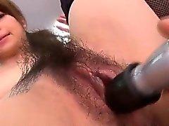 Sexy office porn experience along Maki Hojo