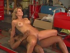 Hot mature blonde rides black guys face and hard cock