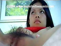 Lindo Jóvenes filipinos andi es totalmente amateur de María hace sacudir en la su arbusto melenudo