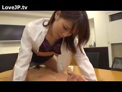 Japanese Secretarty Suck The Boss On A Meeting Table