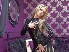 Anya Black Latex Dress