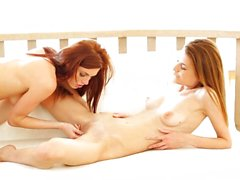 Nubile Films - Real orgasm from lesbian pussy