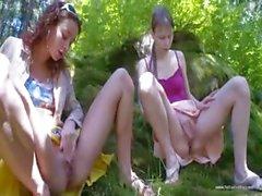 Three spanish virgins masturbating