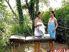 Anais Hills Big Tits Lesbain Massage Dildo