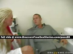 Sweet naked blonde dentist on the chair gets fucked hard