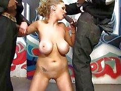 Katie Kox interracial bukkake