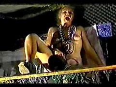 Amateur - Mardi Gras Exhibitionist Bottles & Sucks Cock