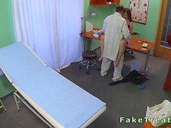 Sexy amateur patient fucked in fake hospital