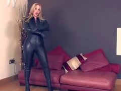 Mistress Sidonia's Leather Catsuit