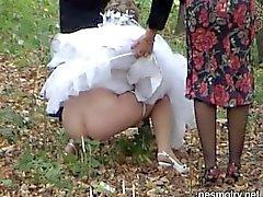 bröllops utomhus pissa tre