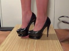lady latisha sky heels trample shoesjob