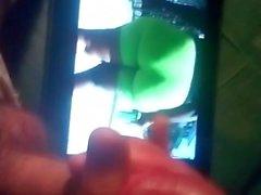 Mi Esperma caliente en la burbuja de dat Ronda Juicy Yummy Grueso Negro BBW Big Phat Azz