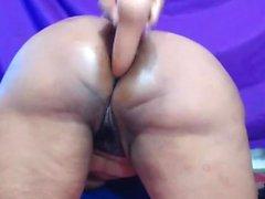 Amateur ebony girlfriend masturbate