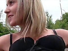 Eurobabe Blanka Grain with big boobs drilled for some money