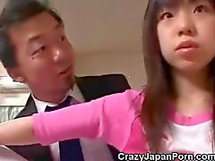 Pervert Cums On Japanese Teen!