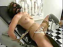 Tit suckers toys hold breasts prisoners while bitch is tormented and tortured in bdsm sex video