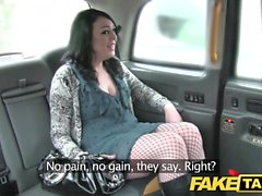 Fake Taxi caught by security before big facial cumshot