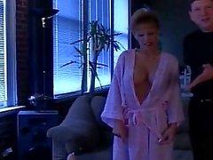 Mega boobs milf fucked with sex toy