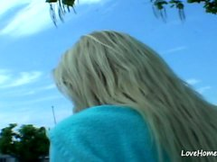 Hot blonde is seductive and she loves sex