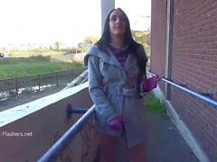 Dark Chloe Lovettes public flashing and smoking