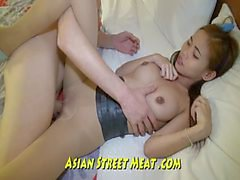 Petite Asian Sweetie Loves Foreign Cock