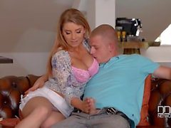 Chesty Czech pornstar goes rides hard till Orgasm