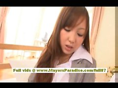 Anna Mitsui Hot Asian secretary gets licked