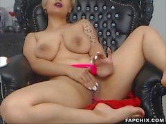 Lustful Big Boobs Blonde Finger Fucks Her Wet Vagina