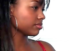 Sensual ebonies kissing and sucking big boobs