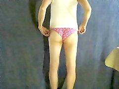 Pantyboy in pink panties.