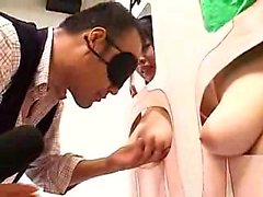 Sexy Japanese hotties are inspected and he selects who to p