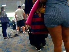 Sexy booty preto em shorts bodysuit Pt.1