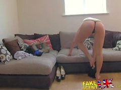 FakeAgentUK Full facial for tight pussy sexy london chick in casting
