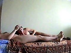 Блондинка девушка получают полового члена во влагалище и ее рту