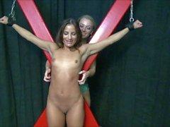 latina chichi tortured on hte x rack