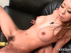Wild sex after multiple hairy deep pussy toys insertion