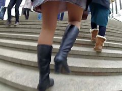 pantyhose and boots