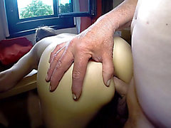 French bitch with large love button does anal