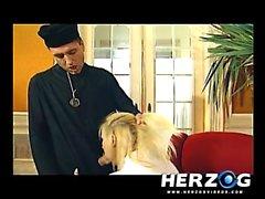 Bavarian schoolgirl and nun banged hard by priest