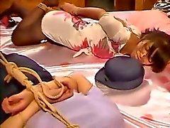 Bondage Chinese hogtied due