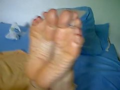 mature white feet