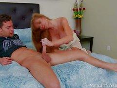 Good looking busty mature slut Darla Crane gets shagged