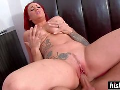 Red haired Paige Delight got fucked
