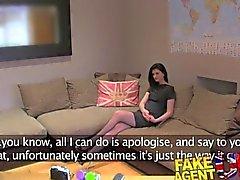 FakeAgentUK Sexy Amadores recebe a ação anal doce na fundição de pornografia