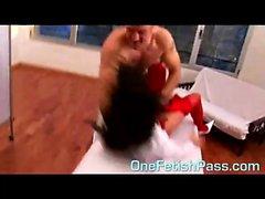 guy get wild during his massage