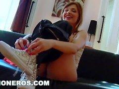 CULIONEROS - MILF Aletta Ocean Brings Her Big Tits To Tetangas Espanolas!